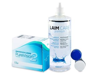 PureVision 2 (6db lencse) +400 ml Laim-Careápolószer