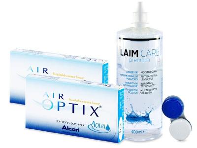 Air Optix Aqua (2x3db lencse) +400 ml Laim-Care ápolószer