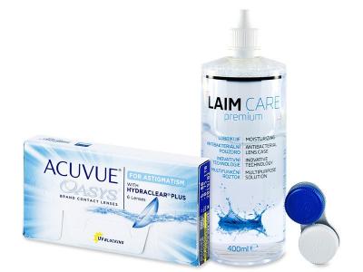 Acuvue Oasys for Astigmatism (6db lencse) +400 ml Laim-Careápolószer