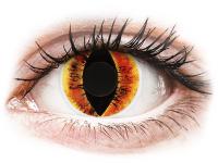 alensa.hu - Kontaktlencsék - Narancssárga Saurons Eye ColourVUE Crazy Lens lencse - dioptria nélkül