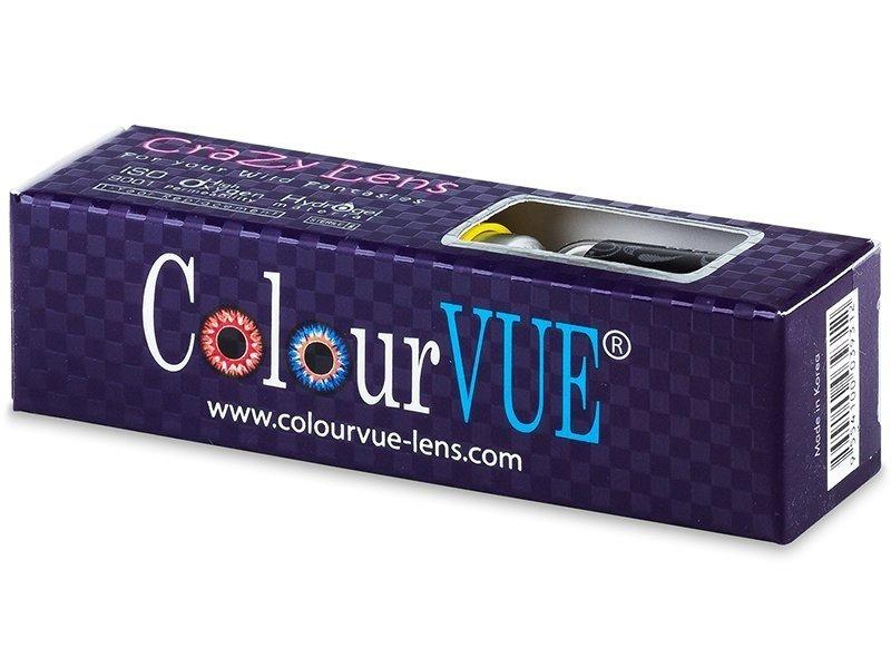 Fehér White Zombie ColourVUE Crazy Lens kontaktlencse - dioptria nélkül (2 db lencse)