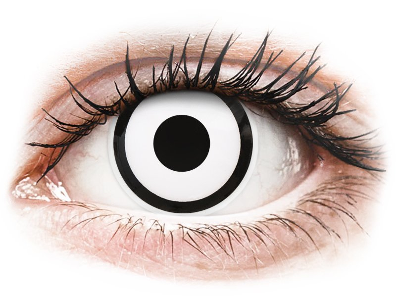... Fehér White Zombie ColourVUE Crazy Lens kontaktlencse - dioptriával (2  db lencse) ... 21fa7bfbfa