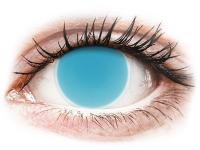alensa.hu - Kontaktlencsék - Kék Electric Blue ColourVUE Crazy Glow kontaktlencse - dioptria nélkül