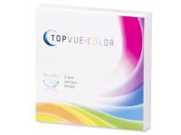 Zöld TopVue Color kontaktlencse - dioptriával (2db lencse)