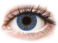 Zafírkék  TopVue Color kontaktlencse - dioptria nélkül (2 db lencse)