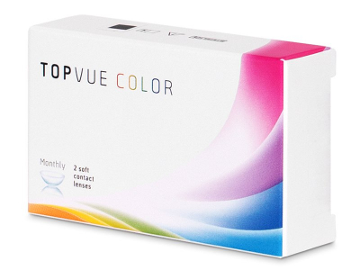 Türkiz TopVue Color kontaktlencse - dioptria nélkül (2 db lencse)