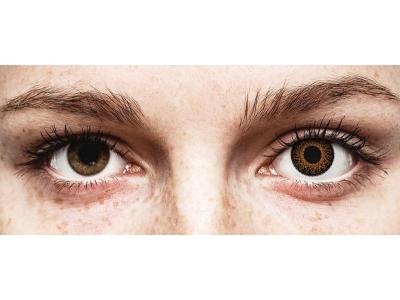 Barna ColourVUE Eyelush kontaktlencse - dioptria nélkül (2db lencse)
