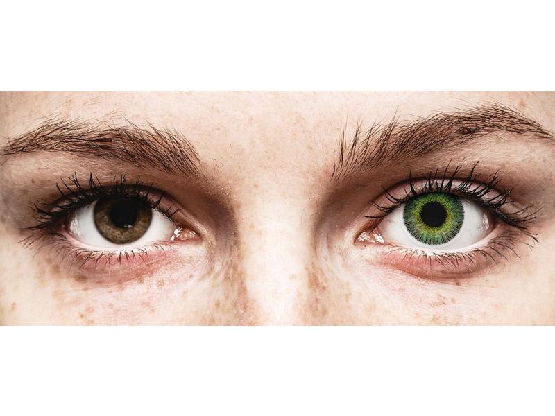 Zöld/Sárga ColourVUE Fusion kontaktlencse - dioptria nélkül (2db lencse)