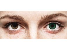 Zöld Amazon SofLens Natural Colors kontaktlencse - dioptriával (2 db lencse)
