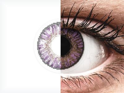 Ametiszt Freshlook Colors kontaktlencse - dioptriával (2 db lencse)