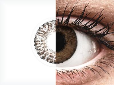 Barna FreshLook ColorBlends kontaktlencse - dioptria nélkül (2 db lencse)