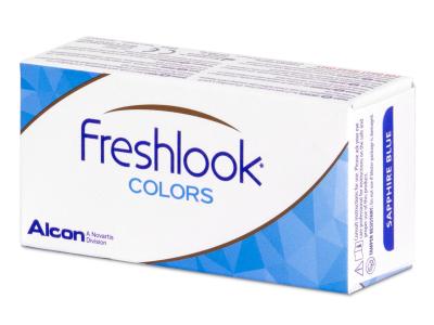 Ködszürke FreshLook Colors kontaktlencse - dioptriával (2 db lencse)