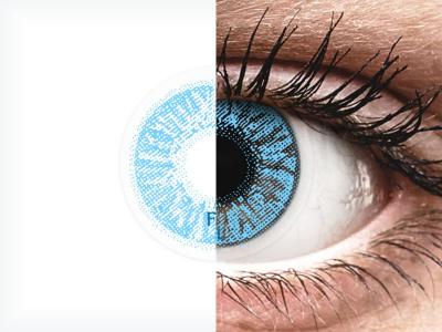 Zafírkék Freshlook Colors kontaktlencse  - dioptriával (2 db lencse)
