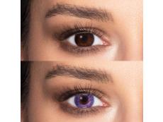 Ibolyaszínű Freshlook Colors kontaktlencse - dioptria nélkül (2 db lencse)