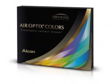 Brilliáns kék Air Optix Colors kontaktlencse - dioptriával (2lencse)