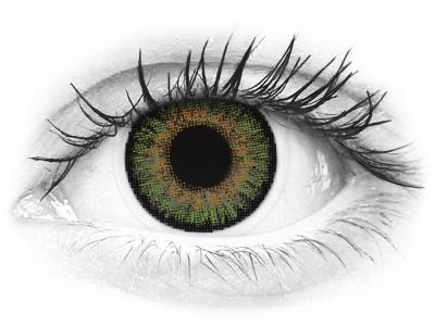 Zöld Freshlook One Day Color kontaktlencse - dioptria nélkül (10 db lencse)