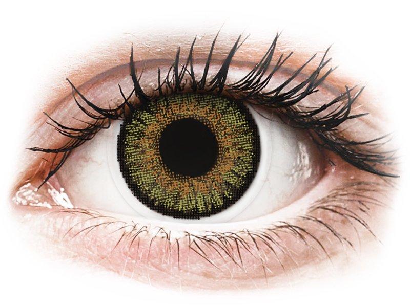 Mogyoró szín Freshlook One Day Color kontaktlencse - dioptriával (10 db lencse)