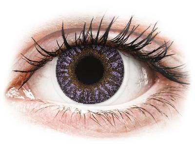 Ibolyaszínű TopVue Color kontaktlencse - dioptria nélkül (2 db lencse)