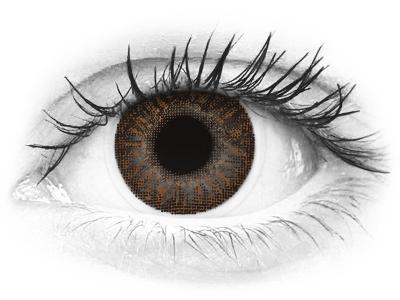 Mézszínű TopVue Color kontaktlencse - dioptria nélkül (2 db lencse)