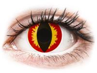 alensa.hu - Kontaktlencsék - Piros/sárga Dragon Eyes ColourVUE Crazy Lens napi lencsék - dioptria nélkül