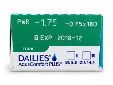 Dailies AquaComfort Plus Toric (30db lencse)