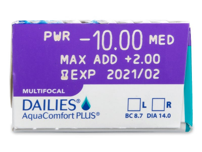 Dailies AquaComfort Plus Multifocal (30 db lencse)
