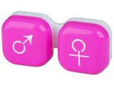 alensa.hu - Kontaktlencsék - Lencse tartó - férfi&nő jelzéssel - rózsaszín