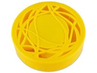 Lencse tartó tükörrel - sárga díszítéssel