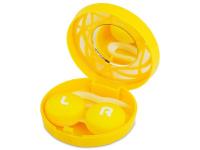 alensa.hu - Kontaktlencsék - Lencse tartó tükörrel - sárga díszítéssel