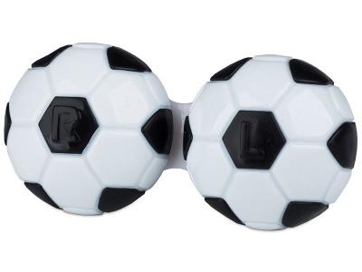 Futball-labda formájú lencse tartó- fekete