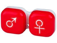 alensa.hu - Kontaktlencsék - Lencse tartó - férfi&nő jelzéssel - piros