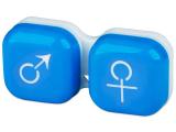 alensa.hu - Kontaktlencsék - Lencse tartó - férfi&nő jelzéssel - kék