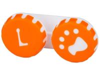 alensa.hu - Kontaktlencsék - Tappancs mintázatú kontaktlencse tartó - narancs színű