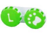 alensa.hu - Kontaktlencsék - Tappancs mintázatú kontaktlencse tartó - zöld