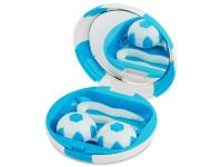 alensa.hu - Kontaktlencsék - Lencse tartó tükörrel - Futball labda - kék