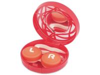 alensa.hu - Kontaktlencsék - Piros kontaktlencse tartó tükörrel