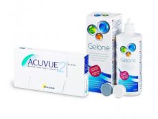 Acuvue 2 (6 db lencse) + 360 ml Gelone ápolószer