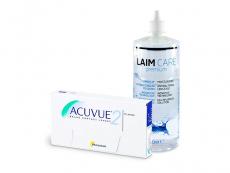 Acuvue 2 (6 db lencse) + 400 ml Laim-Care ápolószer
