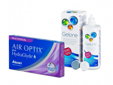 Air Optix plus HydraGlyde Multifocal (6 db lencse) + 360 ml Gelone ápolószer