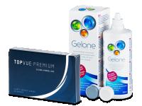 TopVue Premium (6 db lencse) + Gelone ápolószer 360 ml
