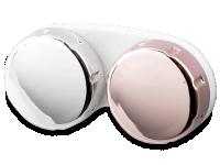 alensa.hu - Kontaktlencsék - Kontaktlencse tok tükrözött kivitelben - rózsaszín/ezüst