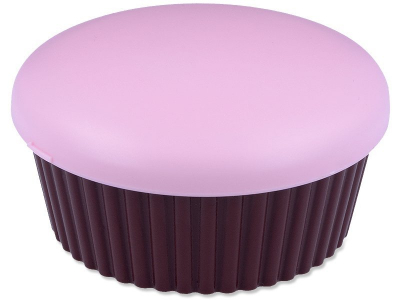 Lencsetartó tükörrel Muffin - pink