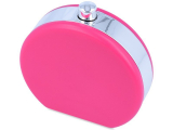 Lencsetartó tükörrel Flacon - pink