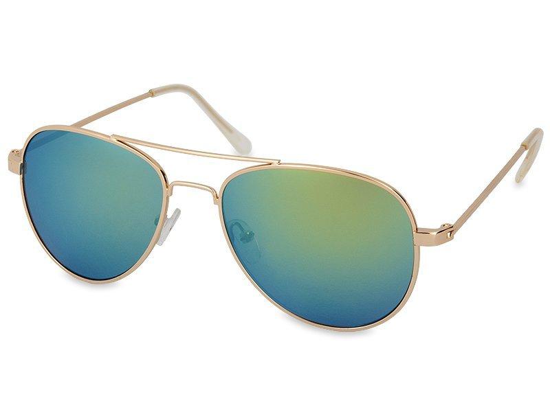 Gold pilot napszemüveg kék-zöld lencsékkel  d16f7cdd7d