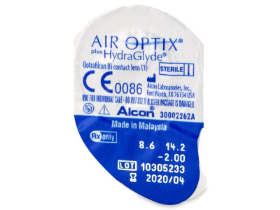 Air Optix plus HydraGlyde (3 db lencse)