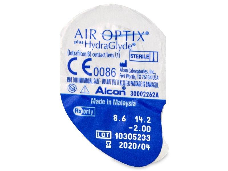 Air Optix plus HydraGlyde (3 db lencse)