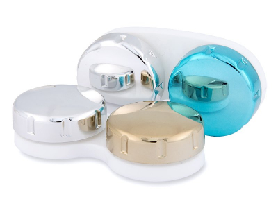 Kontaktlencse tok tükrözött kivitelben - kék/ezüst
