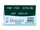 Focus Dailies Toric (30db lencse)